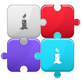 Candle. Vector puzzle. — Stockvektor