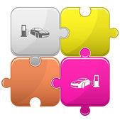 Car fueling. Vector puzzle. — Stock Vector