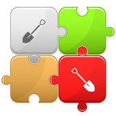 Spade. Vector puzzle. — Stock Vector