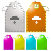 Storm. Vector tags. — Stock Vector