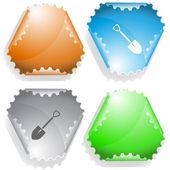 Spade. Vector sticker. — Stock Vector