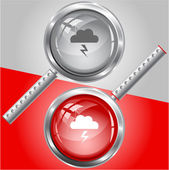 Storm. Vector magnifying glass. — Stock Vector