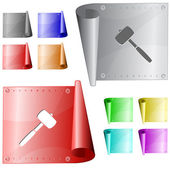 Mallet. Vector metal surface. — 图库矢量图片