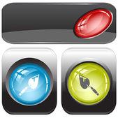 Trowel. Vector internet buttons. — Stock Vector