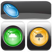 Storm. Vector internet buttons. — Stock Vector