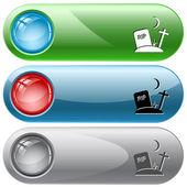 Rip. Vector internet buttons. — Stock Vector