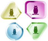 Owl. Vector sticker. — Stock Vector