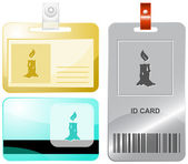 Candle. Vector id cards. — Stock Vector