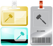 Mallet. Vector id cards. — Stock Vector