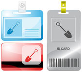 Spade. Vector id cards. — Stock Vector