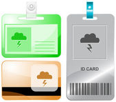 Storm. Vector id cards. — Stock Vector