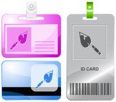 Trowel. Vector id cards. — Stock Vector