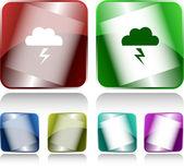 Storm. Internet buttons. — Stock Vector