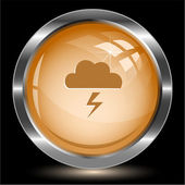 Storm. Internet button. — Stock Vector