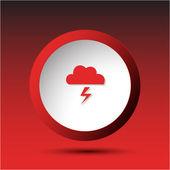 Storm. Plastic button. — Stock Vector