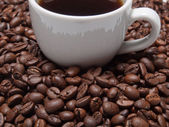 A cup of coffe to get energy and become vivacious — 图库照片