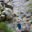 Female rock climber — Stock Photo #48809191