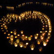 Candles in form of heart — Stock Photo #49061381
