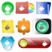 Bucket buttons — Stock Vector
