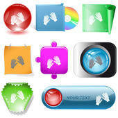 Gauntlets buttons — Stock Vector