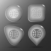 Globe. Glass buttons. — Vettoriale Stock