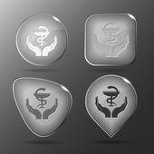 Health symbol in hands — Stock Vector