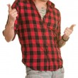Cool Young Man Pointing — Stock Photo
