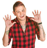 Male with Hands Open — Stock Photo
