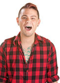 Laughing Young Man — Stock Photo