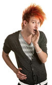 Teen With Mohawk Whispering — Stock Photo