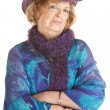 Grumpy Old Lady - Stockfoto