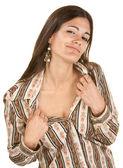 Seductive Woman Showing Neck — Stock Photo