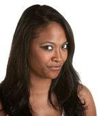 Cynical Black Woman — Stock Photo