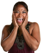 Laughing Black Woman — Stock Photo