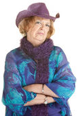 Grumpy Old Lady — Stock Photo