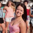 Upbeat Teenage Girl Smiling — Stock Photo #13127636