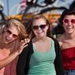 Three Cute Laughing Girls — Stock Photo