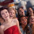 Stock Photo: Hysterical Group of Girls Laughing