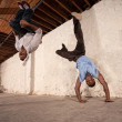 Foto de Stock  : CapoeriMartial Artists Flipping