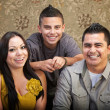 Latino Family Laughing Together — Stock Photo