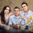 Foto Stock: Hispanic Family of Three