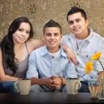 Hispanic Family of Three — Stock Photo