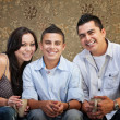 Joyful Hispanic Family — Stock Photo