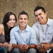 Stock Photo: Joyful Hispanic Family