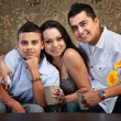 Foto Stock: Joyful Hispanic Family
