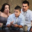 Shocked Parents and Texting Teen — Foto de Stock