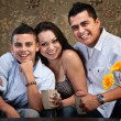 Young Happy Native American Family — Stock Photo