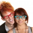Couple in Red and Blue Glasses — Stock Photo #13127886