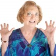 Frightened Senior Female — Stock Photo