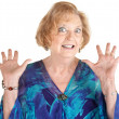 Stock Photo: Frightened Senior Female